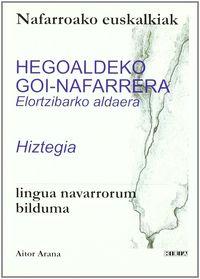 HEGOALDEKO GOI-NAFARRERA ELORTZIBARKO ALDAERA HIZTEGIA - NAFARROAKO EU