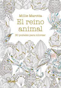 Postales - El Reino Animal - 30 Postales Para Colorear - Millie Marotta