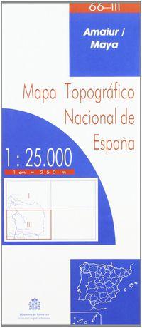 MAPA AMAIUR / MAYA 66-III 1: 25000