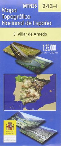 MAPA EL VILLAR DE ARNEDO 243-I 1: 25000