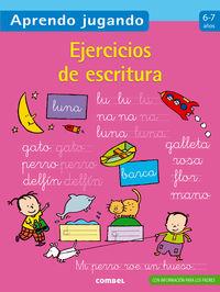 Ejercicios De Escritura (6-7 Años) - Aa. Vv.