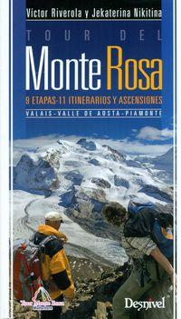 TOUR DEL MONTE ROSA - 9 ETAPAS 11 ITINERARIOS Y ASCENSIONES
