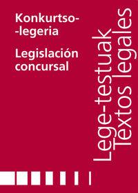 KONKURTSO LEGERIA = LEGISLACION CONCURSAL
