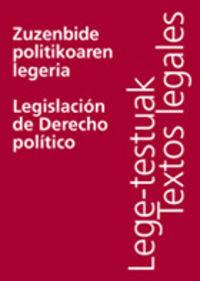 ZUZENBIDE POLITIKOAREN LEGERIA = LEGISLACION DE DERECHO POLITICO