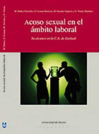 ACOSO SEXUAL EN EL AMBITO LABORAL