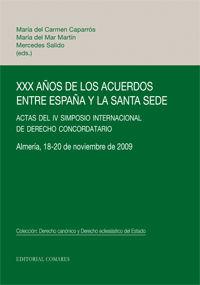 XXX AÑOS DE LOS ACUERDOS ENTRE ESPAÑA Y LA SANTA SEDE