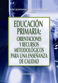 EDUCACION PRIMARIA - ORIENTACIONES Y RECURSOS METODOLOGICOS