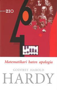 Matematikari Baten Apologia - Godfrey H. Hardy