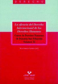 La eficacia del derecho internacional de los derechos humanos - Juan Soroeta Liceras (ed. )