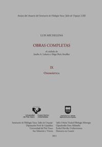 ANEJO ASJU 62 - LUIS MICHELENA - OBRAS COMPLETAS IX