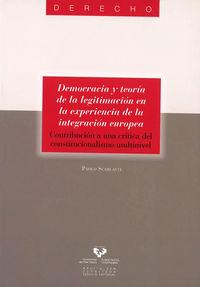 Democracia Y Teoria De La Legitimizacion En La Expeciencia De La - Paolo Scarlatti