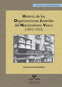 Hª De Organizaciones Juveniles Del Nacionalismo Vasco (1893-1923) - Nicolas Ruiz Descamps
