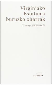 Virginiako Estatuari Buruzko Oharrak - Thomas Jefferson