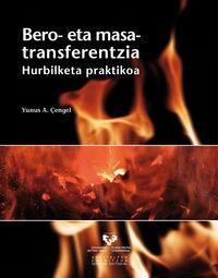 BERO ETA MASA TRANSFERENTZIA - HURBILKETA PRAKTIKOA