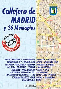 (19 ED) CALLEJERO DE MADRID Y 26 MUNICIPIOS
