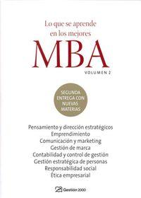 Que Se Aprende En Los Mejores Mba (vol.2) - Aa. Vv.