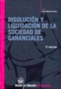 (3ª Ed)  Disolucion Y Liquidacion De La Sociedad De Gananciales - Juan Montero Aroca