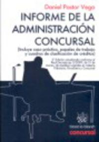 Informe De La Administracion Concursal - Daniel Pastor Vega