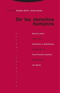 De Los Derechos Humanos - Las Conferencias Oxford Amnesty De 1993 - Susan Hurley (ed. ) / Stephen Shute (ed. )