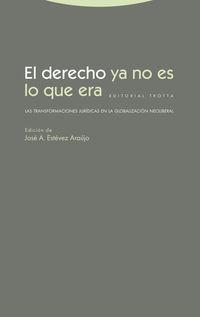 Derecho Ya No Es Lo Que Era, El - Las Transformaciones Juridicas En La Globalizacion Neoliberal - Jose A. Estevez Araujo (ed. )