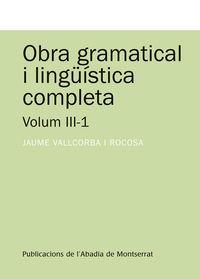 OBRA GRAMATICAL I LINGUISTICA COMPLETA III-1