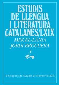 Miscellania Jordi Bruguera Iii - Aa. Vv.