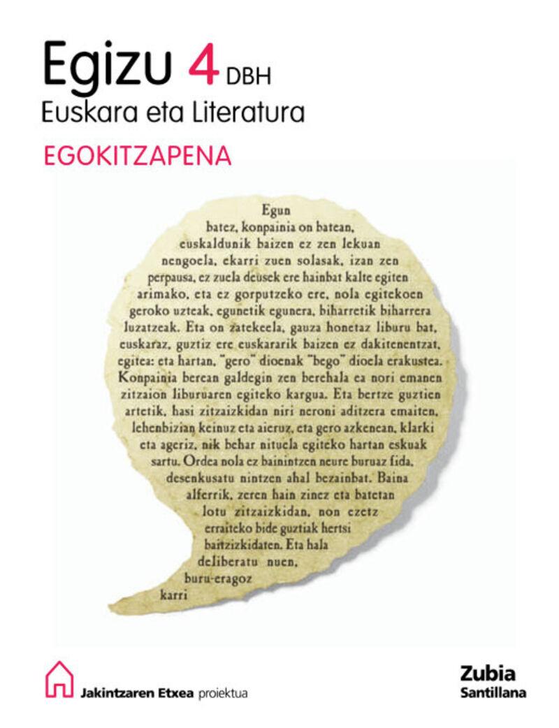 DBH 4 - EUSKARA EGIZU - EGOKITZAPENA - JAKINTZAREN ETXEA