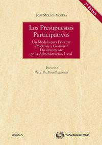 Los  presupuestos participativos (2ª ed. ) - Jose Molina Molina