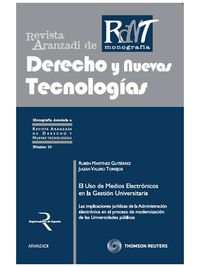 El uso de medios electronicos en la gestion universitaria - Julian  Valero Torrijos  /  Ruben  Martinez Gutierrez