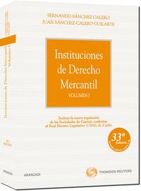 Instituciones De Derecho Mercantil I (33ª Ed) - Fernando Sanchez Calero