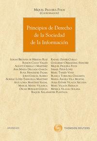 Principios De Derecho De La Sociedad De La Informacion - Miguel  Peguera Poch (coord. )