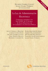 La  ley de administracion electronica (3ª ed. ) - Aa. Vv.