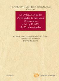 La ordenacion de las actividades de servicios - Tomas De La  Quadra (ed. )