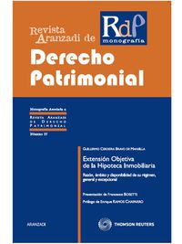 Extension Objetiva De La Hipoteca Inmobiliaria - G. Cerdeira Bravo De Mansilla