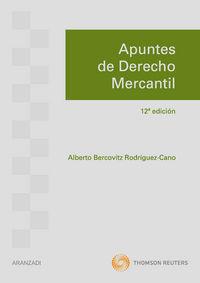 Apuntes De Derecho Mercantil (12ª Ed. ) - A. Bercovitz Rodriguez-cano