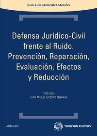 Defensa Juridico-civil Frente Al Ruido - Juan-luis Monestier Morales