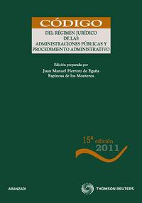 (15ª Ed. )  Regimen Juridico De Las Administraciones Publicas - Aa. Vv.
