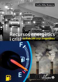RECURSOS ENERGETICS I CRISI
