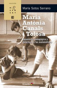 MARIA ANTONIA CANALS I TOLOSA - RENOVACION PEDAGOGICA Y DIDACTICA DE LAS MATEMATICAS
