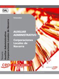 AUXILIAR ADMINISTRATIVO - TEMARIO - CORPORACIONES LOCALES D