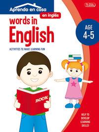 WORDS IN ENGLISH - APRENDO EN CASA INGLES (4-5 AÑOS)