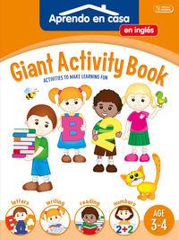 GIANT ACTIVITY BOOK - APRENDO EN CASA INGLES (3-4 AÑOS)