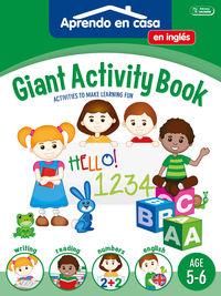 GIANT ACTIVITY BOOK - APRENDO EN CASA INGLES (5-6 AÑOS)