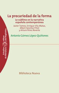 La precariedad de la forma - Antonio Gomez Lopez-Quiñones