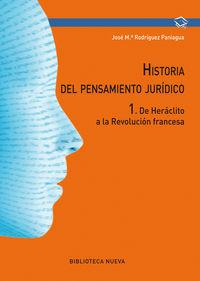 HISTORIA DEL PENSAMIENTO JURIDICO I - DE HERACLITO A LA REVOLUCION FRANCESA