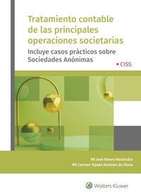 TRATAMIENTO CONTABLE DE LAS PRINCIPALES OPERACIONS SOCIETARIAS