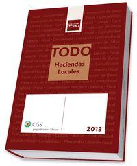 TODO HACIENDAS LOCALES 2013