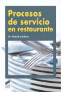 Cf - Procesos De Servicio En Restauracion - Jose Manuel Sanchez Feito