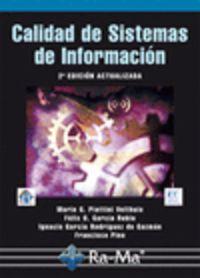CALIDAD DE SISTEMAS DE INFORMACION (2ª ED)