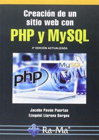(5 ED) CREACION DE UN SITIO WEB CON PHP Y MYSQL